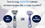 Win Gillette producten. Win Gillette scheermesjes of scheerset